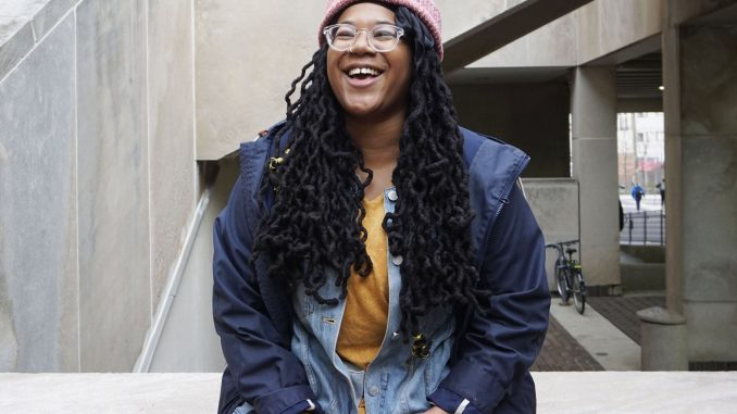 Kai Davis, a 2016 Africology and African-American studies and English alumna, is one of 10 Philadelphia artists to be awarded the Transformation Award from the Leeway Foundation in December. The award is given to women and trans artists who have shown a commitment to social change in their work. | CACIE ROSARIO / THE TEMPLE NEWS