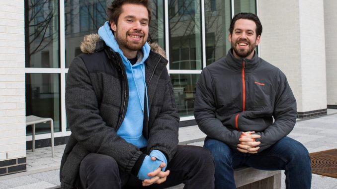 Alex Tillery, a sophomore legal studies major, and Bob Lamb, a third-year master's of public health student, host weekly recovery meetings in Morgan Hall South. | SYDNEY SCHAEFER / THE TEMPLE NEWS