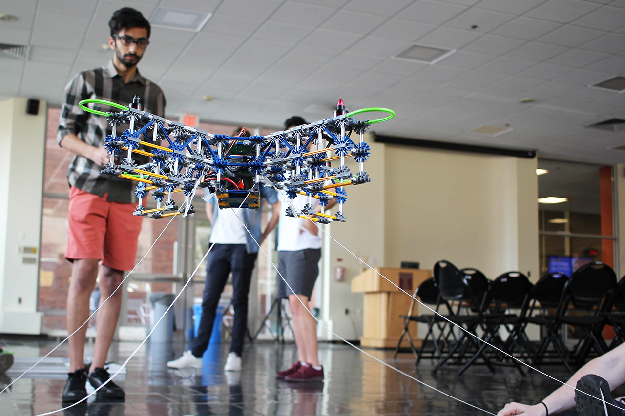 Students make drone for campus tours