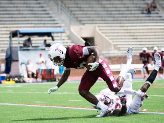PHOTO: Redshirt sophomore Ty Mason scrimmages on Aug. 18.
