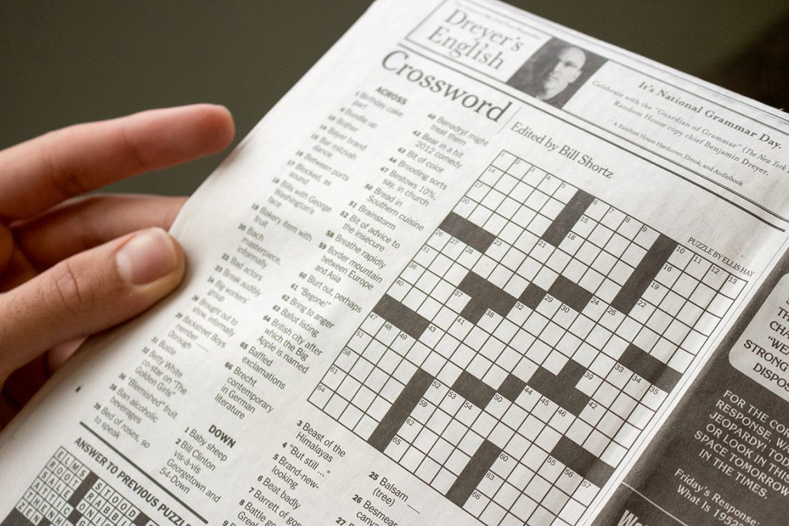 New York Times Prints Temple Student S Crossword Puzzle The Temple News