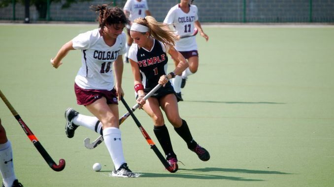Sophomore forward Amber Youtz leads the Atlantic 10 Conference in goals (12) and points (30). She was named A-10 Player of the Week on Monday. ( ANDREW THAYER // TTN )