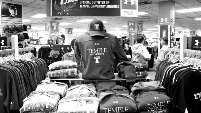 The Coalition of Students Against Sweatshops is seeking to get all of Temple's merchandise made my companies that have fair labor practices. ( HUA ZONG // TTN )