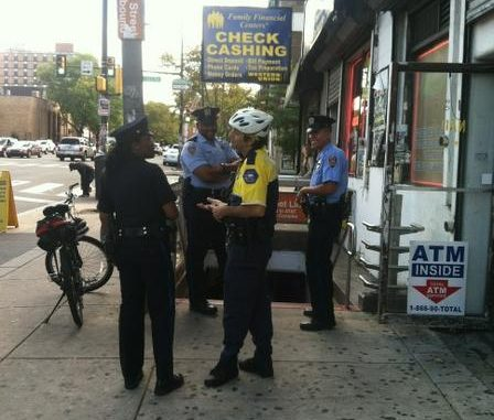 Temple and Philadelphia Police stand outside subway station at Broad Street and Susquehanna Avenue following shooting. John Moritz TTN