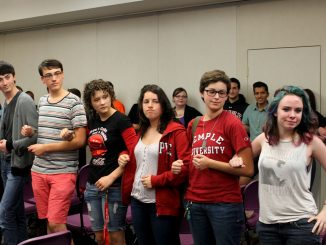 Members of Queer Student Union gather at last week's meeting. The university launched a website Sept. 12, providing resources and information for the LGBT community. ( AMANDA SHAFFERN / TTN )