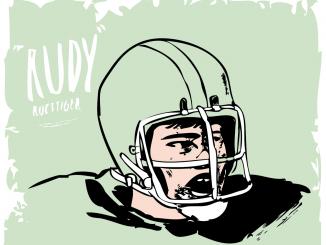 """Daniel """"Rudy"""" Ruettiger ( ILLUSTRATION / DARCY STACKHOUSE / TTN )"""