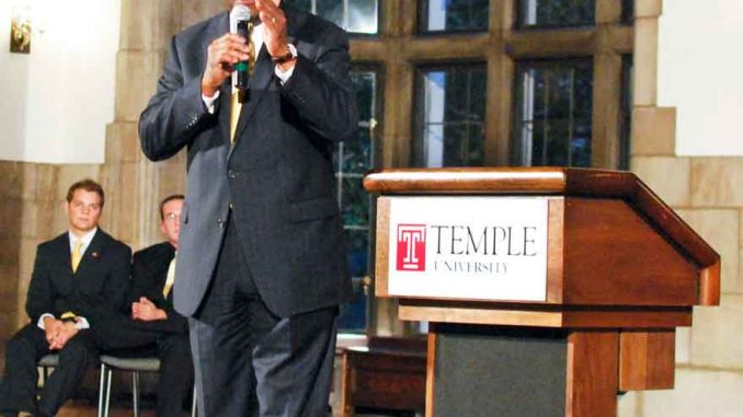Former presidential candidate Herman Cain speaks to attendees at his Truth Tour on Oct. 19. | SAM LEVINE / TTN