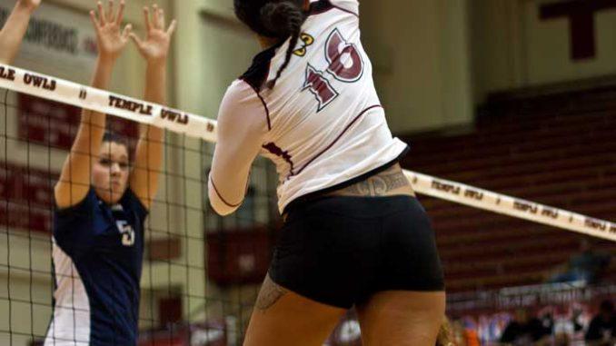 Junior outside hitter Gabriella Matautia hails from Ewa Beach, Hawaii, a volleyball mecca. ( HUA ZONG // TTN )