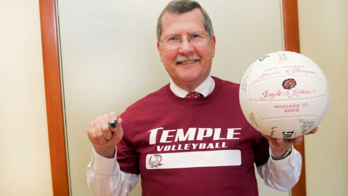 Acting President Richard Englert credits the volleyball team for one of the best sporting events he's ever attended, a NCAA tournament win against Penn State in 2002. | ABI REIMOLD / TTN