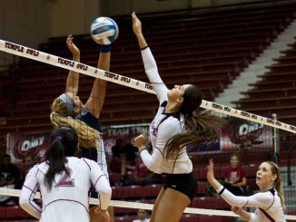 The Owls face off against Duquesne on Friday, Nov. 16. The Dukes defeated the Owls in straight sets in Pittsburgh, Pa., on Oct. 12. | HUA ZONG / TTN