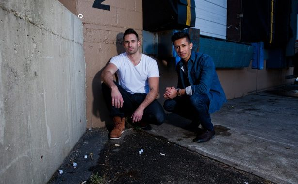 """Mike Tornabene, left, alumnus Gian Hunjan, right, are the co-creators of the """"Dom Mazzetti"""" YouTube videos. Tornabene portrays a Jersey Shore-esque guido, fueled by alcohol and hormones. 