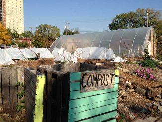 Philadelphia Urban Creators gears up for the winter by implementing high tunnels in the garden to lengthen the growing season of crops. | LAUREN HERTZLER / TTN