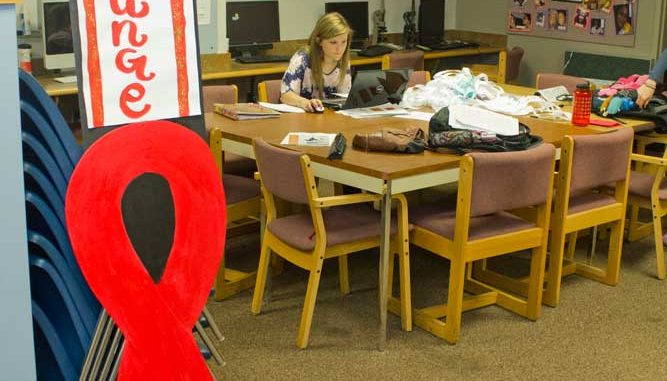 Preparations for Red Lounge are in the HEART office in the lower level of Mitten Hall. | LUIS FERNANDO RODRIGUEZ / TTN