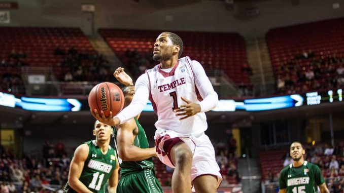 Senior guard Khalif Wyatt scored a game high 26 points in Temple's 70–62 win against Wagner on Dec. 1.   HUA ZONG / TTN