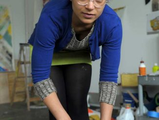 "Alexis Thompson is an MFA painting candidate and one of the graduates organizing ""Ahem."" 