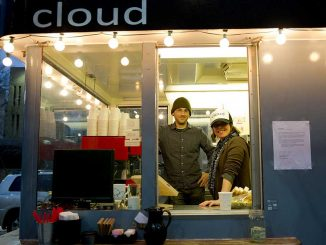 Matthew Craig and Kristen Mills founded Cloud Coffee last November as part of the Cloud Project, an initiative to expose customers to art while they get coffee. | HUA ZONG / TTN
