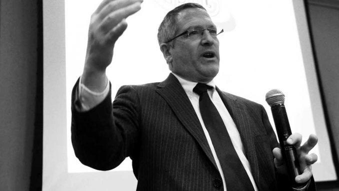 President Neil Theobald spoke at the TSG meeting yesterday, Feb. 4. | ABI REIMOLD / TTN