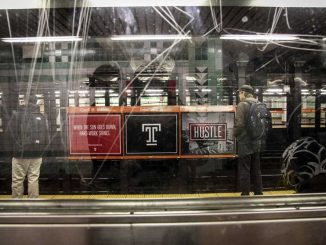Temple Made advertisements have become a mainstay on the Broad Street Line this year. | TIMOTHY VALSHTEIN / TTN