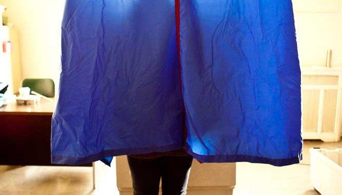 Voter casts a ballots last Election Day.   KATE McCANN / TTN