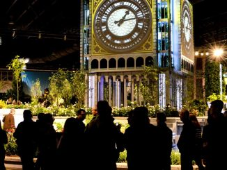 A tribute to Big Ben was constructed at the 2013 Philadelphia Flower Show to fit its British theme. | DAN PELLIGRINE / TTN