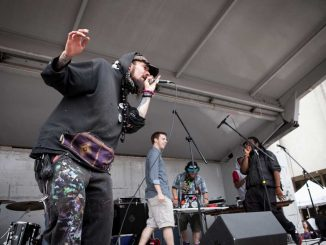 Ghost Ghang, a fifteen-member rap group, performed at last week's Spring Fling celebration. The group is comprised of current and former Temple students. | KATE MCCANN / TTN