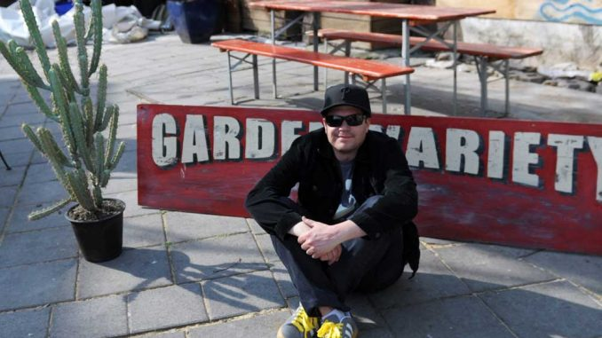 Michael Spiker lives next to Garden Variety, the community space that he curates. He said the space is not a park, but not a business. Rather, the goal is to have it be an active space. | ABI REIMOLD / TTN