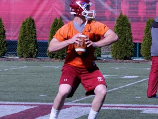 Connor Reilly takes first-team reps in spring ball after two years as a backup under coach Steve Addazio. | AJA ESPINOSA / TTN