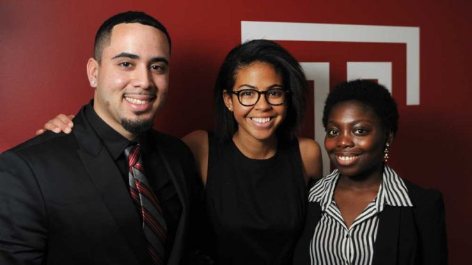 From left: Anthony Torres, Danube Johnson and Patricia Boateng. | ABI REIMOLD / TTN