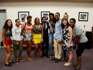 Aziz Ansari poses with fans at his meet and greet after his Welcome Week performance that ended the week's festivities at the Licouras Center on Aug. 24 | Andrew Thayer TTN