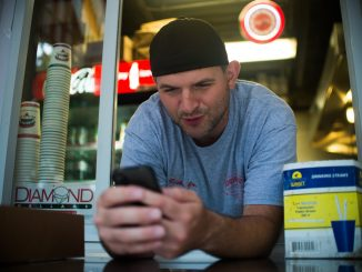 Richie stays active on social media throughout the day, frequently tweeting photos of food. Abi Reimold / TTN
