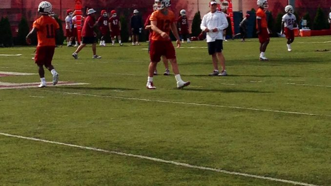 Connor Reilly practicing at Chodoff Field. // AVERY MAEHRER // TTN