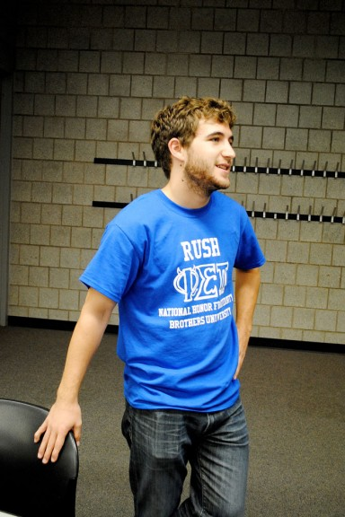 Jonah Fowler realized that the co-ed honors fraternity isn't ranked on GreekRank.com.   Danielle Hagerty TTN