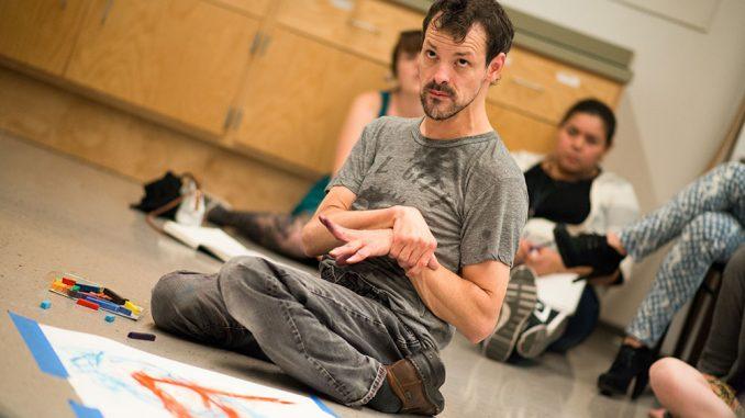 "Dan Keplinger showed his personal documentary, ""King Gimp,"" at Tyler. | Eric Dao TTN"