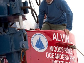 Erik Cordes stands on a deep-sea sub used for his research in the Gulf of Mexico | Courtesy Erik Cordes