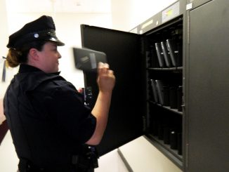 Campus Safety Services is rolling out a new program that arms campus security officers with tablets to quicken the process of crime reporting. It cost the university $450 per tablet, at a total cost of $22,500. | SHASH SCHAEFFER TTN