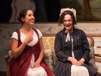 "Minora (left) appears as Jane Fairfax in ""Emma."" 