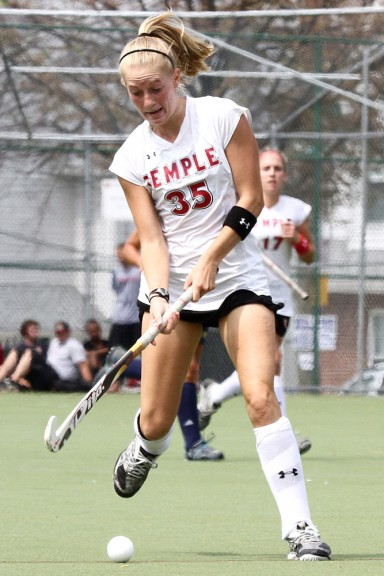 Katie Briglia started in every game during her final three seasons with the field hockey team. Briglia now works for a video production company in New York. | TTN FILE PHOTO