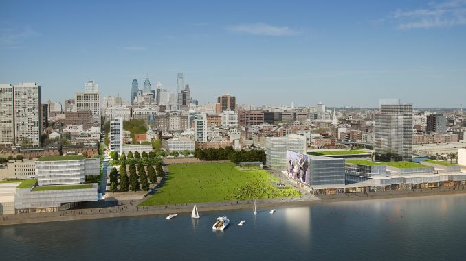 A rendering of what Penn's Landing would look like upon completion. | Courtesy KIERAN TIMBERLAKE / BROOKLYN DIGITAL FOUNDRY