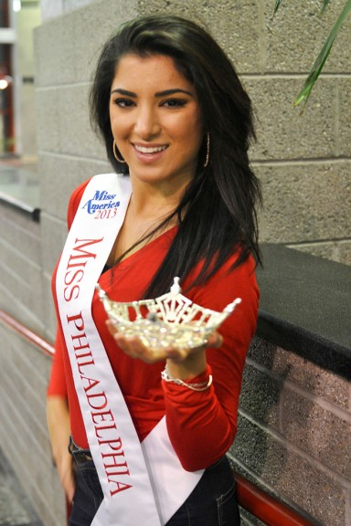 Miss Philadelphia 2013 holds her crown, which she says she will donate to a child with cancer. | Sash Schaeffer TTN