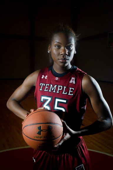 Safiya Martin is one of two freshmen centers on this year's roster. Martin has big shoes to fill, as Temple is without last year's center and leading scorer, Victoria Macaulay. | Abi Reimold TTN