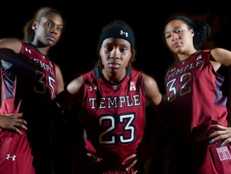 (From left) Freshman center Safiya Martin, junior guard Tyonna Williams and redshirt-senior forward Natasha Thames are preparing for new opponents. | Abi Reimold TTN