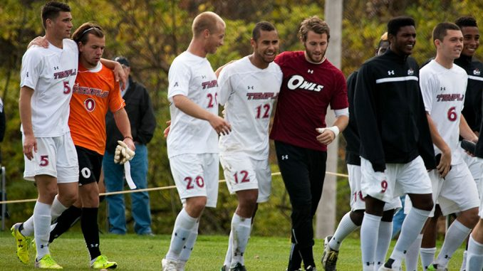 The men's soccer team finished its regular season with a 1-0 double overtime win against Cincinnati. | Paul Klein TTN