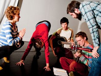 BodyFields Collective members Andy Malanowicz, Bobby Szafranski, Jonathan Childs, Briel Driscoll, and Nikki Roberts rehearse a future performance. | Alex Udowenko TTN