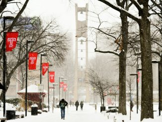 More than 11 inches of snow fell on Temple's Main Campus during last week's snowstorm. Officials closed campuses in Philadelphia area, canceling classes due to snow for the first time since 2010.  SASH SCHAEFFER TTN