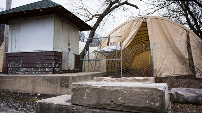 After their previous boathouse was condemned in 2008, the Owls have been competing out of tents. | Edward Barrenechea TTN
