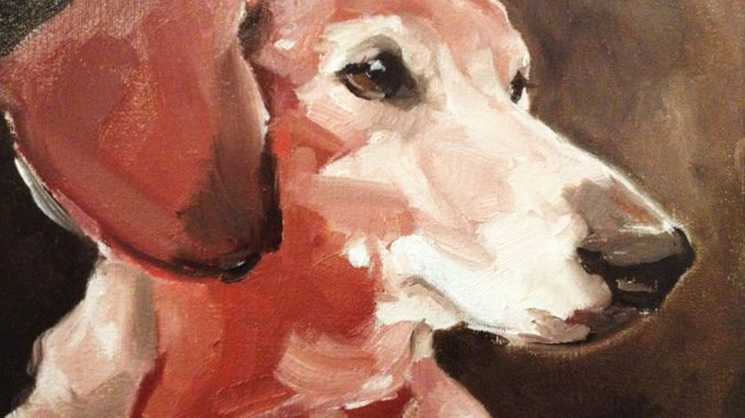 Elizabeth Peterson is using her skills as an illustration major at the University of the Arts to paint pet portraits to help pay off her student loans. | COURTESY Elizabeth Peterson