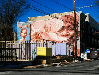 """The mural titled """"In Living Memory: Those of Us Alive,"""" will be covered by new houses being built on the corner of 16th Street and Montgomery Avenue. (Bottom) The houses will be home to more than 100 students when they open in August. 