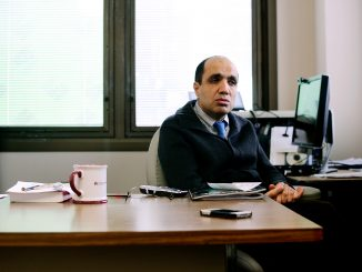 Department Chair Mohammad Kiani developed a class to study healthcare technology. | Andrew Thayer TTN