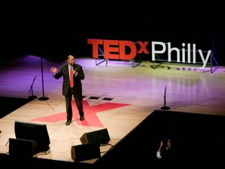 Mayor Nutter speaks at TEDxPhilly in 2011 at Temple's Performing Arts Center. The symposium will return to the same location this Friday featuring two Temple alumni in its lineup. page 14 | COURTESY KEVIN MONKO