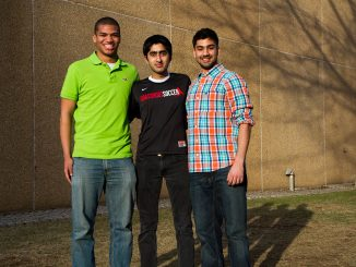 (From left) Chey Jones, Haseeb Goheer and Rohit Batish lead Temple's chapter of the international organization, Grassroot Soccer, which aims to spread HIV/AIDS awareness in the community.   James Leighton TTN
